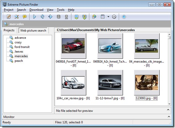 Picture search software