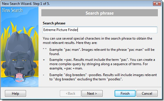 Picture search wizard