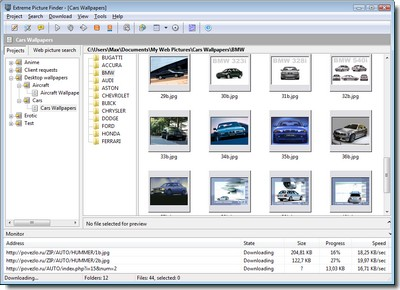 Web picture grabber downloading cars wallpapers