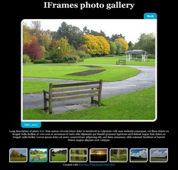 Web photo gallery showing thumbnails and full-size photo on the same page