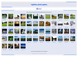 Lightbox photo gallery