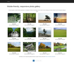 Mobile-friendly responsive photo gallery