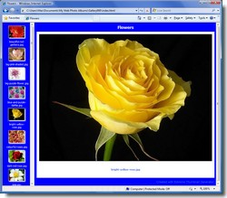 HTML frames thumbnail gallery